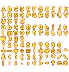 Alphabet2 vector image