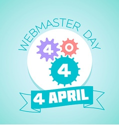 4 April Webmaster day vector image vector image
