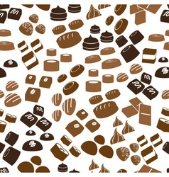 Sweet chocolate truffles icons seamless brown vector