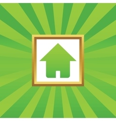 Home picture icon vector