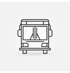Bus linear icon vector