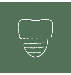 Tooth implant icon drawn in chalk vector