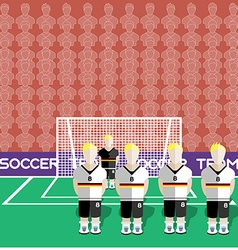 Germany Soccer Club Penalty on a Stadium vector image
