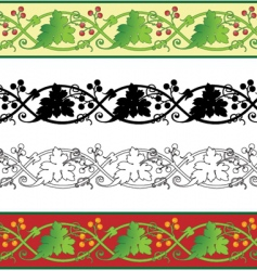 grape leaf border vector image