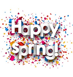 Happy spring paper background vector