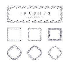 Brushes ornaments vector