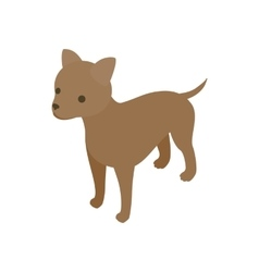 Puppy dog icon isometric 3d style vector