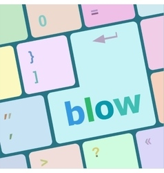 Blow button on computer pc keyboard key vector