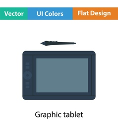 Graphic tablet icon vector