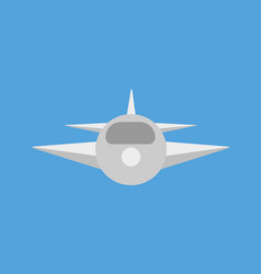 airplane on blue background vector image