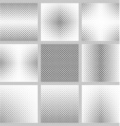 Black and white star pattern set vector