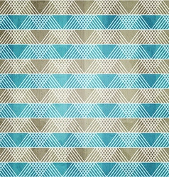 Blue ornament textile with grunge effect vector