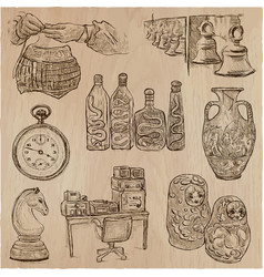 Bric a brac objects - an hand drawn pack vector