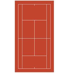 Brown tennis court vector