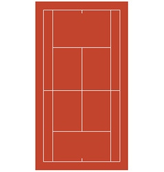Brown tennis court vector image