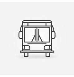 Bus linear icon vector image
