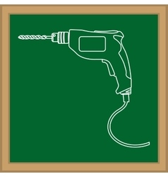 Construction drill tool vector