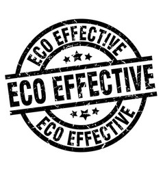 Eco effective round grunge black stamp vector