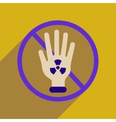 Flat web icon with long shadow toxic symbol vector