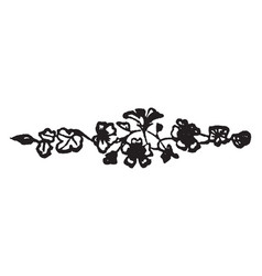 Flowers have a dark pattern in this design vector