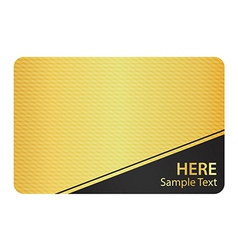 Golden business card with modern texture and black vector