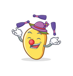 Juggling mango character cartoon mascot vector