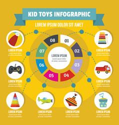 Kid toys infographic concept flat style vector