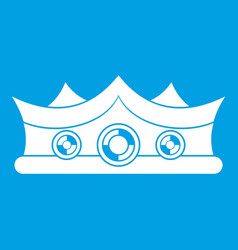 King crown icon white vector