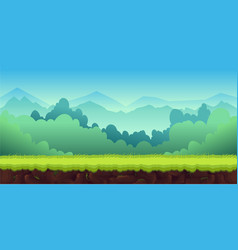Mountains landscape for ui game unending vector