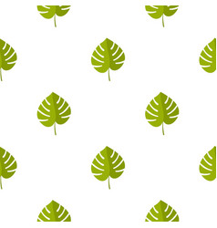 Palm leaf pattern seamless vector