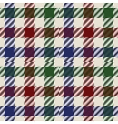 Plaid material green red blue fabric in a squares vector