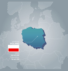 Poland information map vector