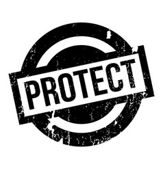 protect rubber stamp vector image vector image