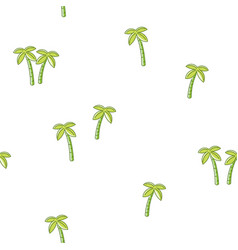 Seamless pattern palm tree vector