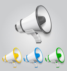 set megaphone color vector image vector image