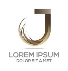Symbol letter j vector