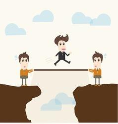 Teamwork businessman vector