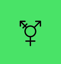 Transgender element movement lgbt flat icon vector