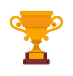 trophy cup icon winner gold award champion prize vector image vector image