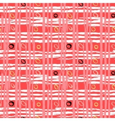 Vintage striped pattern with brushed lines vector image