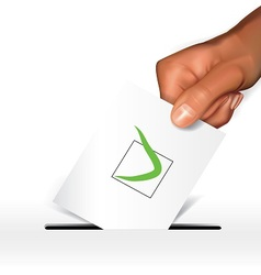 Voting concept-agree vector image