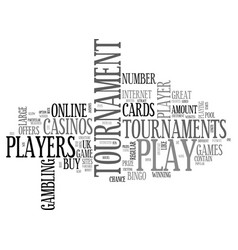 Why players like tournament games text word cloud vector