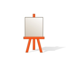 Wooden easel with blank space vector
