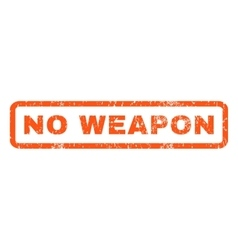 No weapon rubber stamp vector