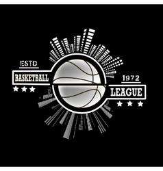 Logo basketball league vector image