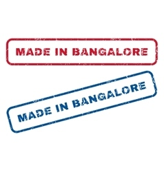 Made In Bangalore Rubber Stamps vector image
