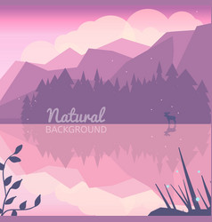 Twilight northen background vector