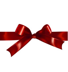 Red isolated realistic bow vector