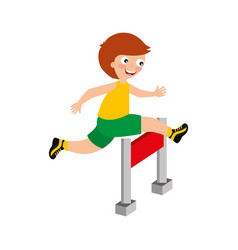 Little kid in obstacle race vector