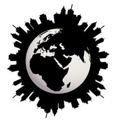 Urban earth globe vector